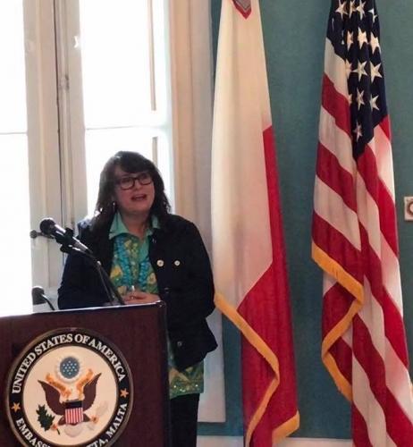 Dr, Tracy Prince at US Embassy / Malta