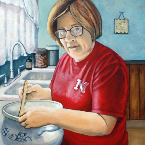 Portrait of Cindy Making Homemade Runzas (Bridgeport, Nebraska)