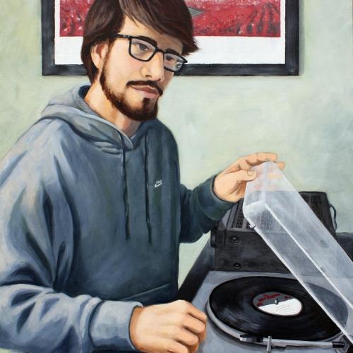 Portrait of John Spinning Tunes (Lincoln, Nebraska)